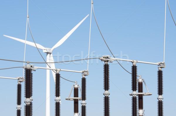 Szél energia szélmalom elektromos erő gyártás Stock fotó © pedrosala