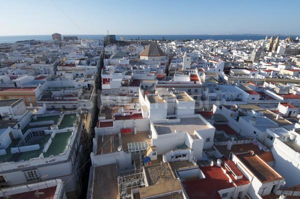 Légifelvétel óváros Andalúzia Spanyolország égbolt épület Stock fotó © pedrosala
