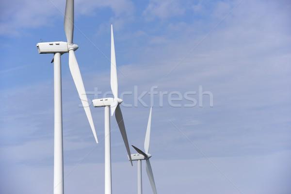 Wind energie hernieuwbare elektrische productie groene Stockfoto © pedrosala
