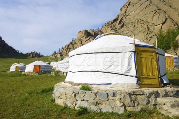 Mongolian gers Stock photo © pedrosala