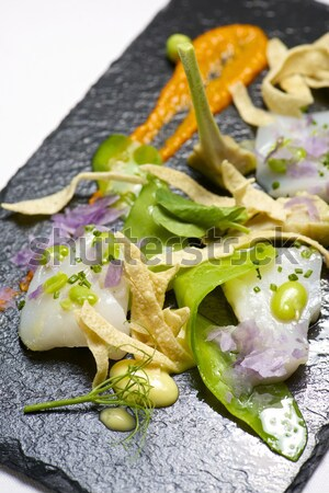 Marinated scallops. Stock photo © pedrosala