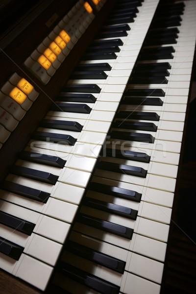 Organo tastiera primo piano chiesa musica piano Foto d'archivio © pedrosala