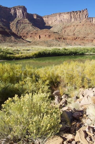 Colorado rivier Utah USA hemel water Stockfoto © pedrosala