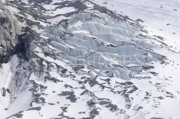 ледник группа Туристов трещин белый долины Сток-фото © pedrosala