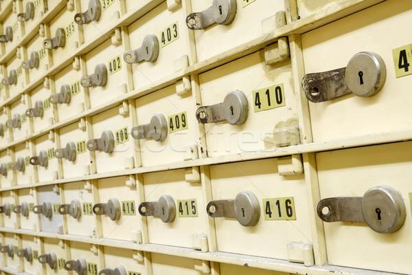 Veilig groep oude bank geld Stockfoto © pedrosala