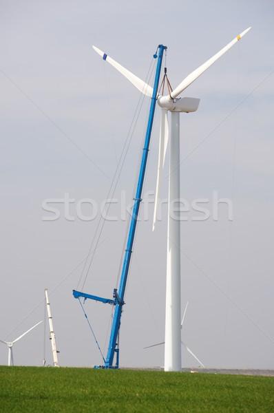 Assembling a windmill Stock photo © pedrosala