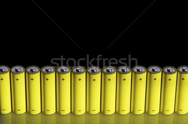 Batterijen ingesteld omhoog zwarte leven macht Stockfoto © pedrosala