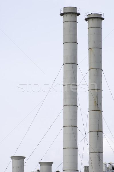 Groep oude hemel gebouw werk stedelijke Stockfoto © pedrosala