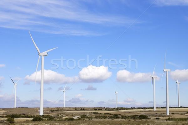 Grup yenilenebilir elektrik enerji üretim yeşil Stok fotoğraf © pedrosala