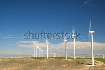 Rüzgâr enerji elektrik güç üretim alan Stok fotoğraf © pedrosala
