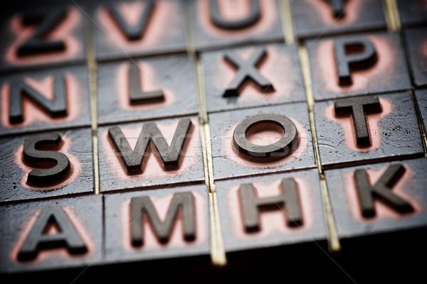 View gomma francobolli parola lettera successo Foto d'archivio © pedrosala