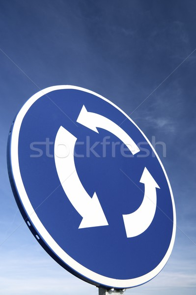 Rotonde signaal blauwe hemel hemel stad achtergrond Stockfoto © pedrosala