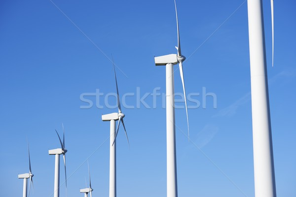 Rüzgâr enerji elektrik güç üretim mavi gökyüzü Stok fotoğraf © pedrosala