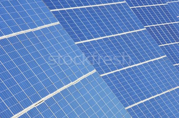 Fotovoltaica pormenor eletricidade produção tecnologia indústria Foto stock © pedrosala
