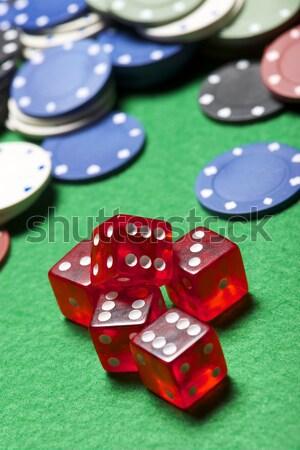 казино фишки казино зеленый деньги фон покер Сток-фото © pedrosala