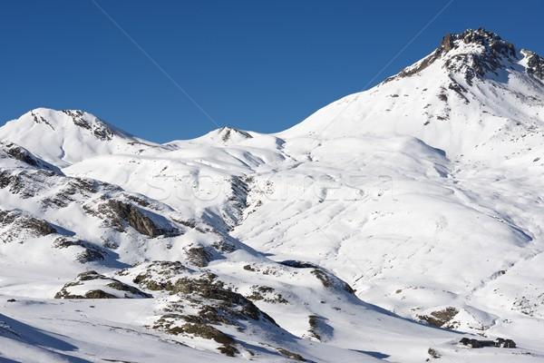Csúcs völgy Franciaország hegy tél panoráma Stock fotó © pedrosala