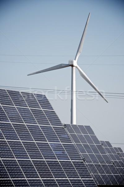 再生可能エネルギー 太陽光発電 エネルギー 生産 自然 技術 ストックフォト © pedrosala