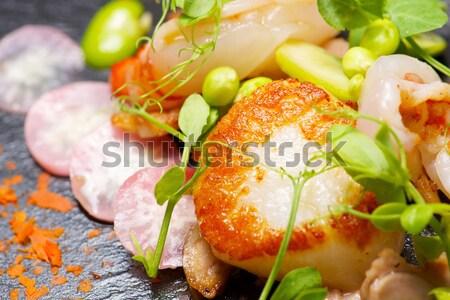 Kismalac garnélák étel hal konyha étterem Stock fotó © pedrosala