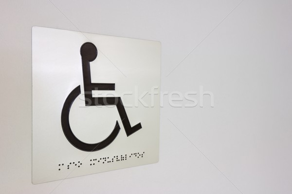инвалид знак белый стены Дать больницу Сток-фото © pedrosala