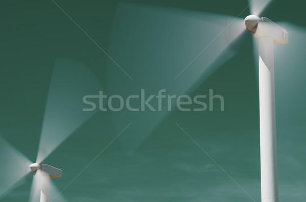 Vent énergie électriques pouvoir production ciel Photo stock © pedrosala