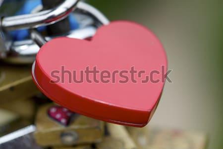 Stock photo: Love padlock