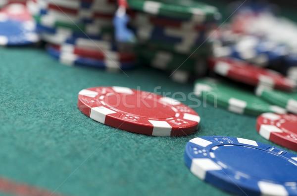 Stockfoto: Casino · casino · chips · groene · geld · textuur · ontwerp