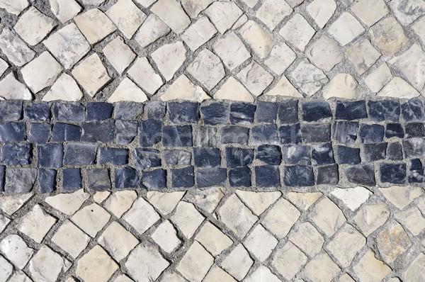black and white cobblestones Stock photo © pedrosala