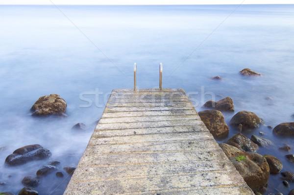 Tengerpart jelenet búskomorság kavics sziget Madeira Stock fotó © pedrosala