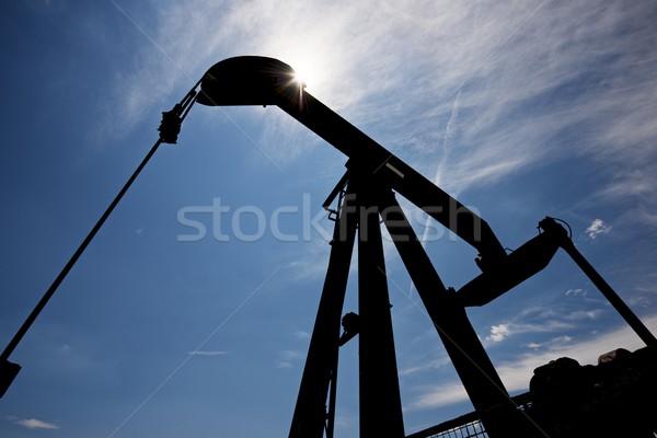 Olajkút LA munka ipar energia felhő Stock fotó © pedrosala