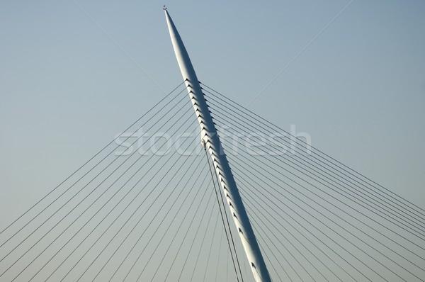 Asma köprü ayrıntılı köprü vatandaşlık gökyüzü soyut Stok fotoğraf © pedrosala