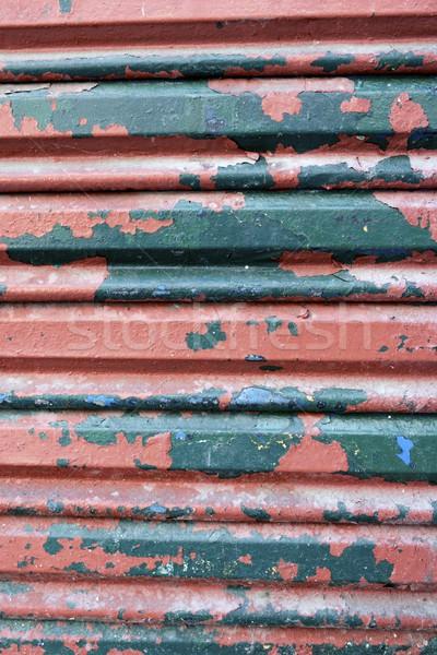 Metaal blinde hoog retro donkere Stockfoto © pedrosala