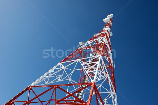 связь башни Blue Sky небе телевидение строительство Сток-фото © pedrosala