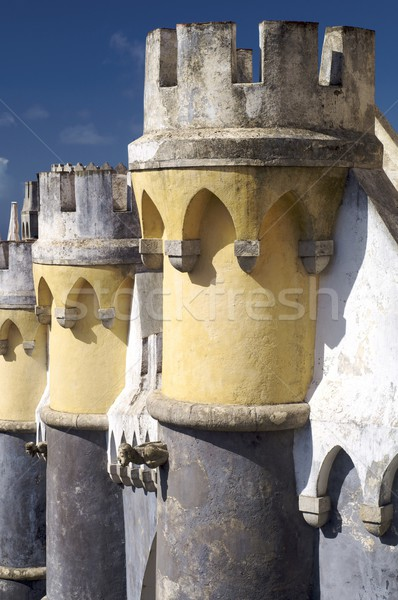 Paleis Portugal hemel zon Blauw Stockfoto © pedrosala