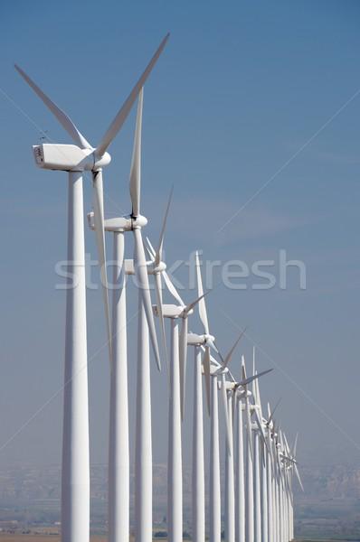 ветер энергии электрических власти производства небе Сток-фото © pedrosala