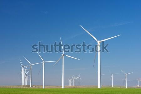 Wind energie elektrische macht productie boerderij Stockfoto © pedrosala