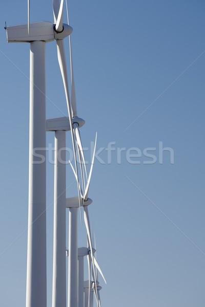 Rüzgâr enerji yenilenebilir elektrik üretim gökyüzü Stok fotoğraf © pedrosala