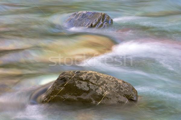 Twee stenen rivier vallei park natuur Stockfoto © pedrosala