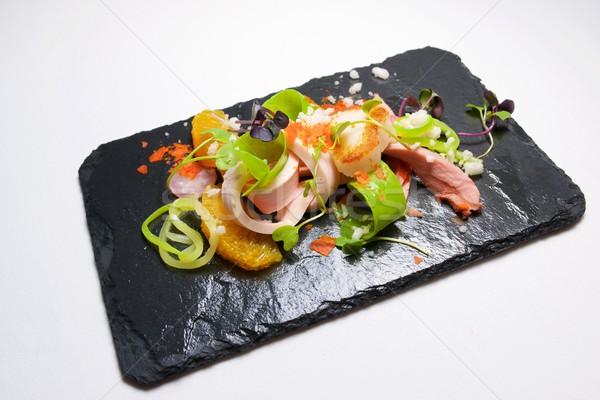 チキンサラダ 季節の フルーツ 食品 キッチン レストラン ストックフォト © pedrosala