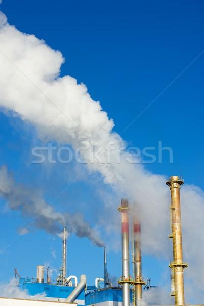 Stock fotó: Papír · malom · kék · ipar · felhő · levegő
