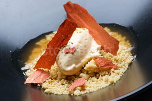 Apricot ice cream Stock photo © pedrosala