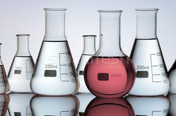 Lab groep laboratorium vloeibare kleur glas Stockfoto © pedrosala