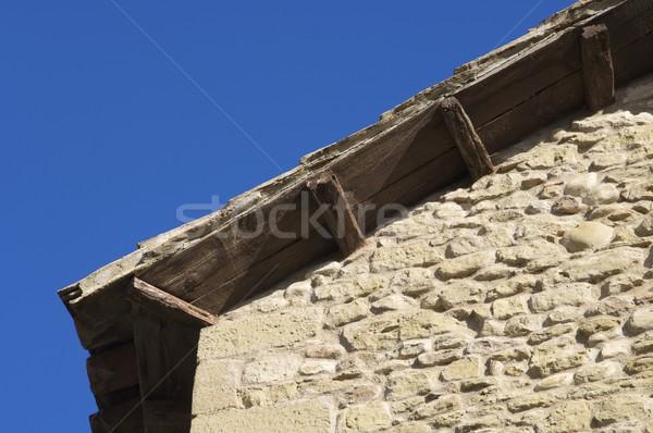 Okap domu Hiszpania budynku niebieski Zdjęcia stock © pedrosala