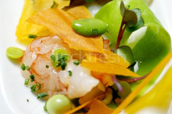Foto stock: Frutos · do · mar · salada · comida · mar · restaurante · verde