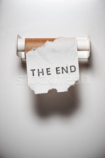 Befejezés üzenet wc papír fehér jegyzet Stock fotó © pedrosala