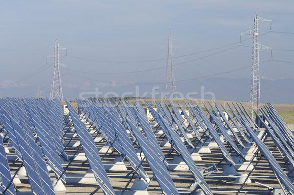 巨大な 太陽 駅 高い 緊張 ストックフォト © pedrosala