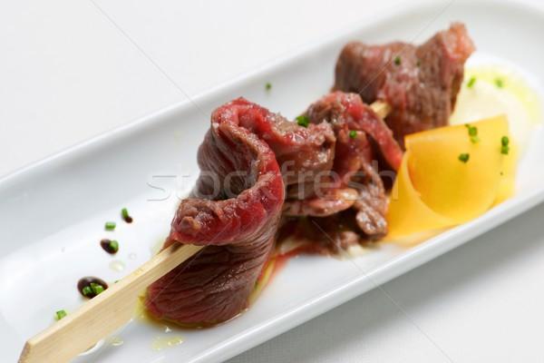 Skewer of beef. Stock photo © pedrosala