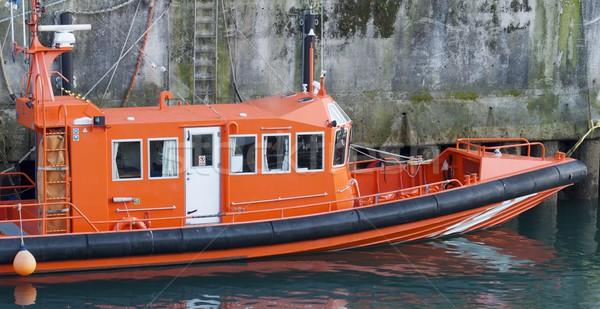 Redding boot haven water zee oranje Stockfoto © pedrosala