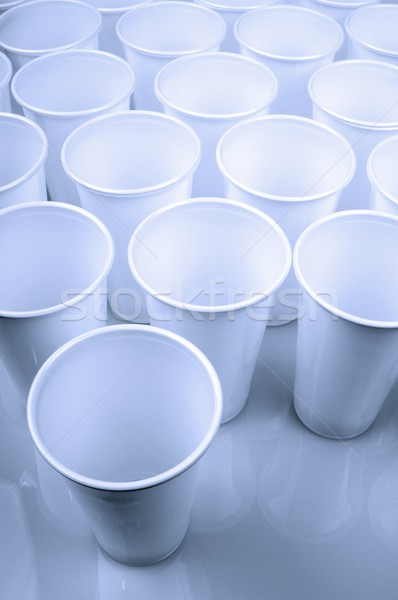 Jetable plats grand groupe blanche plastique Photo stock © pedrosala