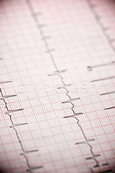 électrocardiogramme papier forme médicaux coeur Photo stock © pedrosala