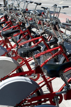 Rental bicycles Stock photo © pedrosala